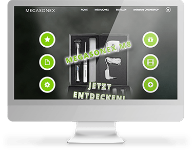 Screenshot Website Megasonex